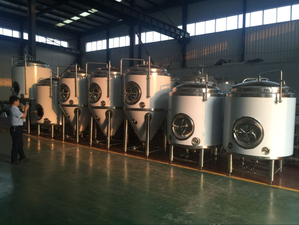 Cylindrical conical fermentation tank